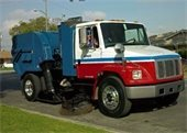 Street sweping truck