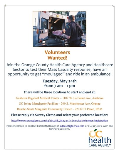 OC Health Care Agancy flyer