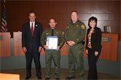 Deputy Castro receives certificate of recognition