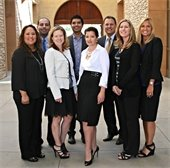 City Staff and City Attorney Front row l-r: Amy Diaz, City Clerk, Sheryl Kuta, Development Services Director, Jennifer Cervantez, City Manager, Stefanie Turner, Finance Director, Wendi Redington, Community Services Supervisor. Back row l-r: Max Maximous, City Engineer/Director of Public Works, Diego Chavez, Human Resources/Risk Manager, Greg Simonian, City Attorney.