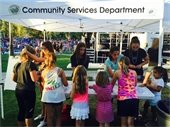 Community Services activity booth