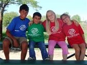 Children in Boys & Girls Club shirts