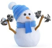 snowman with weights