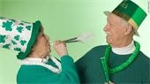 Seniors celebrating St. Patrick's Day