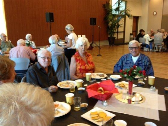 Seniors enjoying Congregate Lunch program
