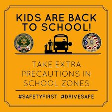 Back to school safety graphic
