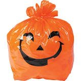 Halloween trash bag