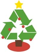 Christmas tree recycle graphic