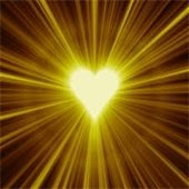 Gold heart image