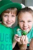 Children wearing green
