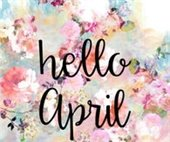 Hello April graphic
