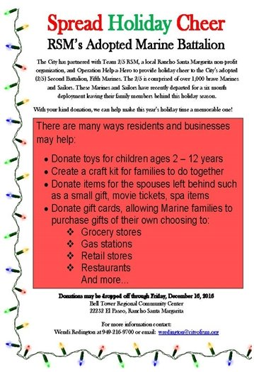 Spread Holiday Cheer flyer