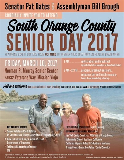 South OC Senior Day flyer