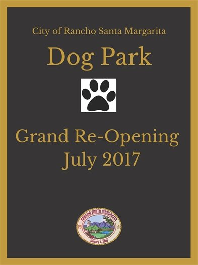 Dog Park signage