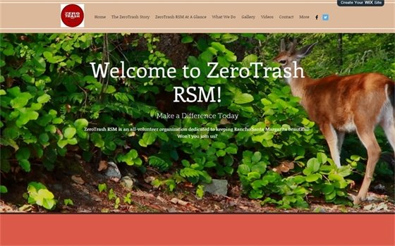 ZeroTrash website