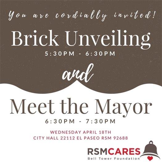 RSM Cares Legacy Brick unveiling announcement