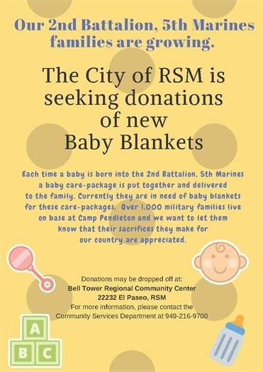 Baby blanket drive flyer
