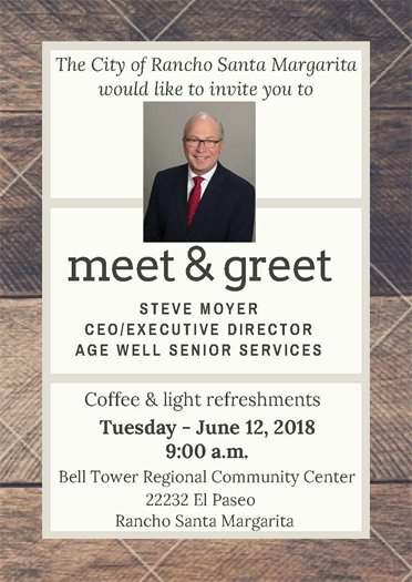 Age Well CEO meet & greet invitation
