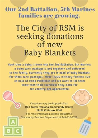Baby blanket donation flyer